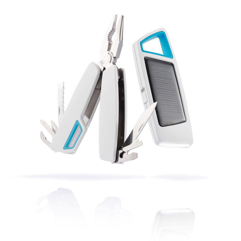 Tovo Set Solar Torch & Multitool, White/Blue