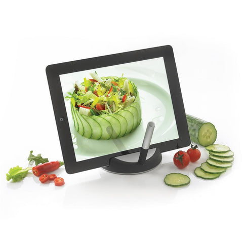Chef Tablet Stand With Touchpen, Black/Silver