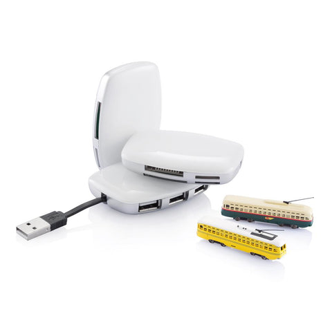 Station Hub & Card Reader, White/Silver