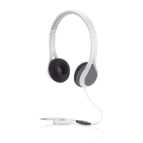 Oova Headphone With Mic, Grey/White