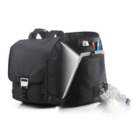 Rio RPET Laptop Backpack, Black/Grey