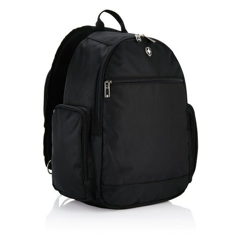 "Swiss Peak Crossover Sling 15"" Laptop Backpack, Black"