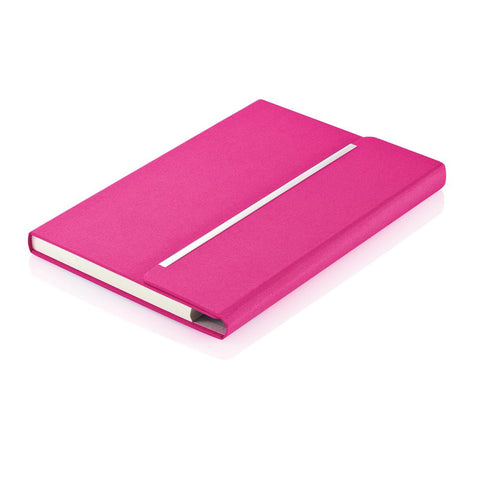 A5 Elite Notebook Cerise Pink/Silver