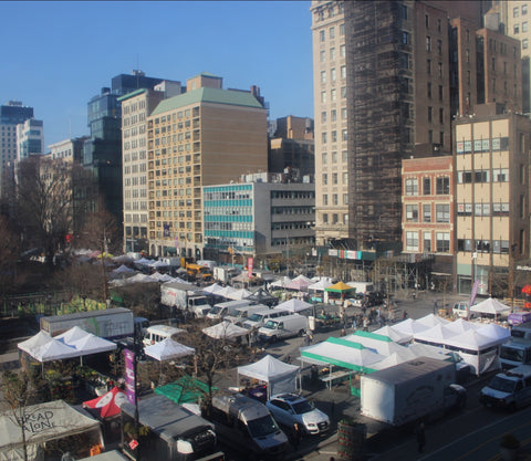 Overview of Union square greenmarket
