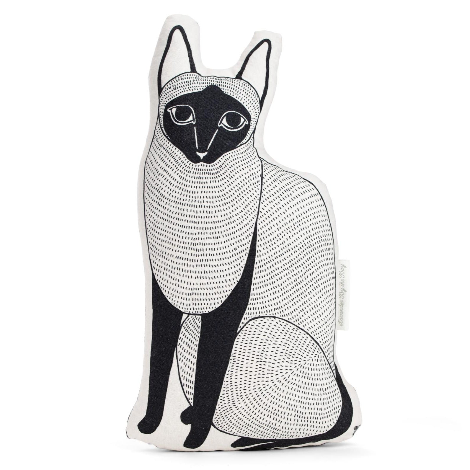 Large Geometric Cat Pillow Lavender By The Bay