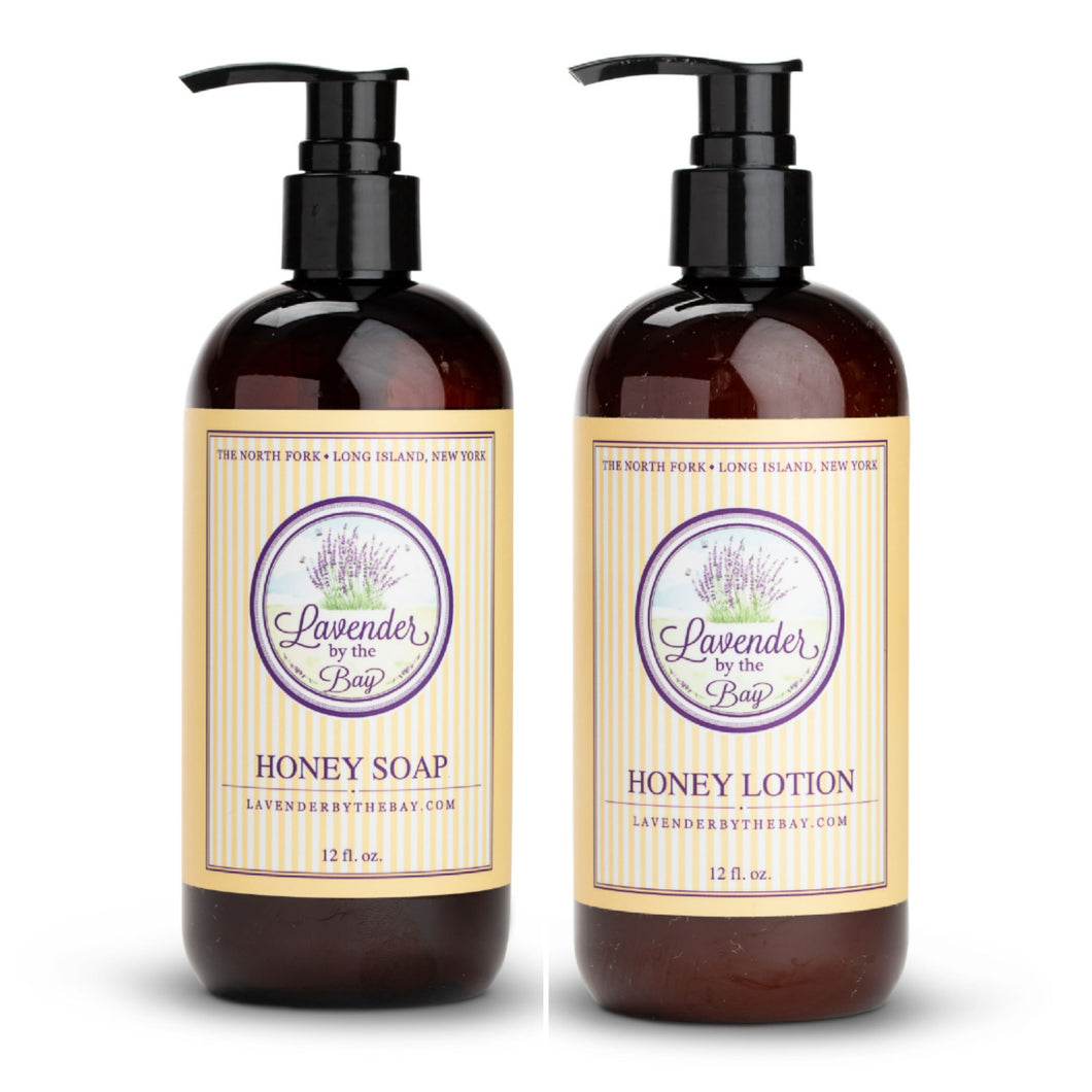 Honey soap and lotion duo