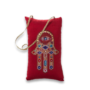 Hamsa Pillow - Lavender By The Bay