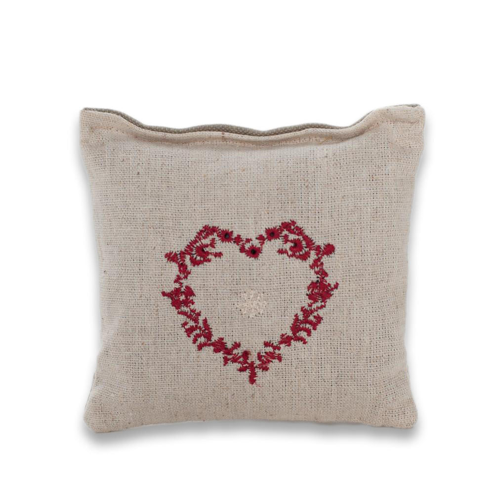 Lavender Filled Embroidered Heart Pillow - Lavender By The Bay