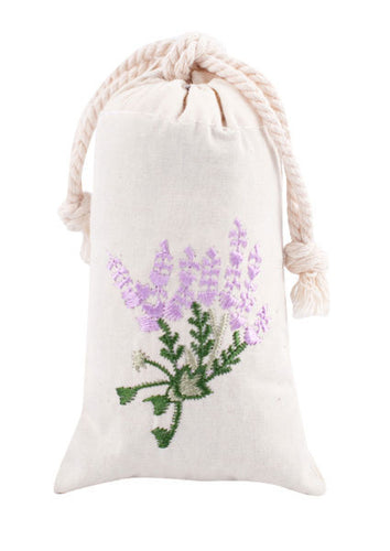 Lavender Embroidered Sachet -Set of 2 - Lavender By The Bay