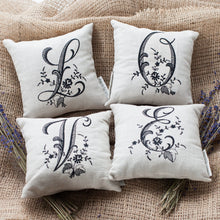Monogrammed Pillow - Black (Most Letters) - Lavender By The Bay