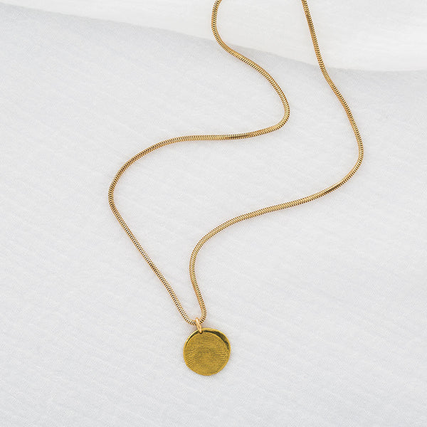 Priceless Prints 22-Karat Gold Fingerprint Pendant Draped