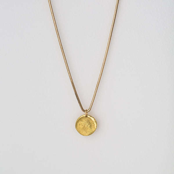Priceless Prints 22-Karat Gold Fingerprint Pendant