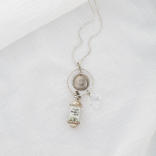 Sterling Silver Capsule Charm on Eternal Pendant Necklace