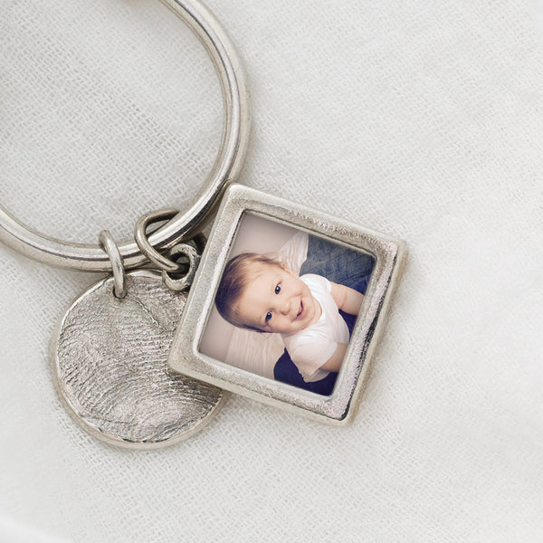 Sterling Silver Photo Frame Charm Pendant Detail