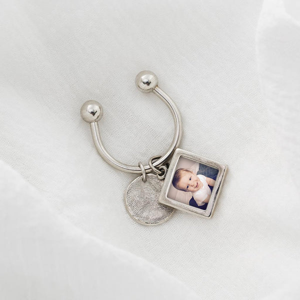 Sterling Silver Photo Frame Charm Pendant