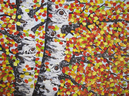 Aspen Tree Fall Painting
