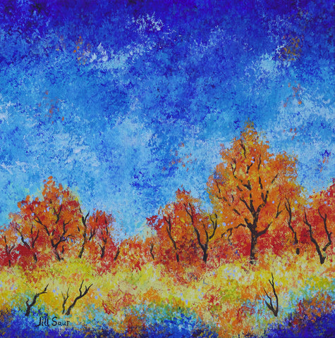 Abstract Landscape with blues by Jill Saur