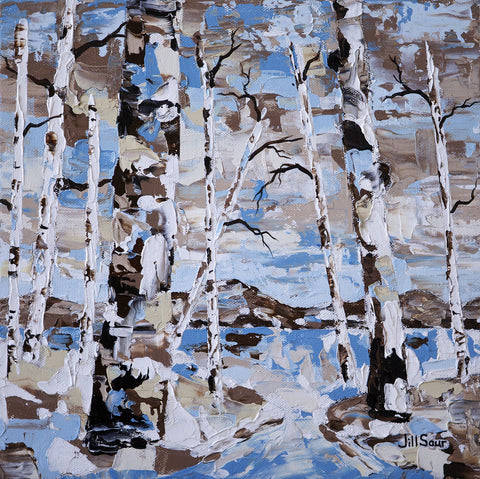 abstract aspen painting on canvas