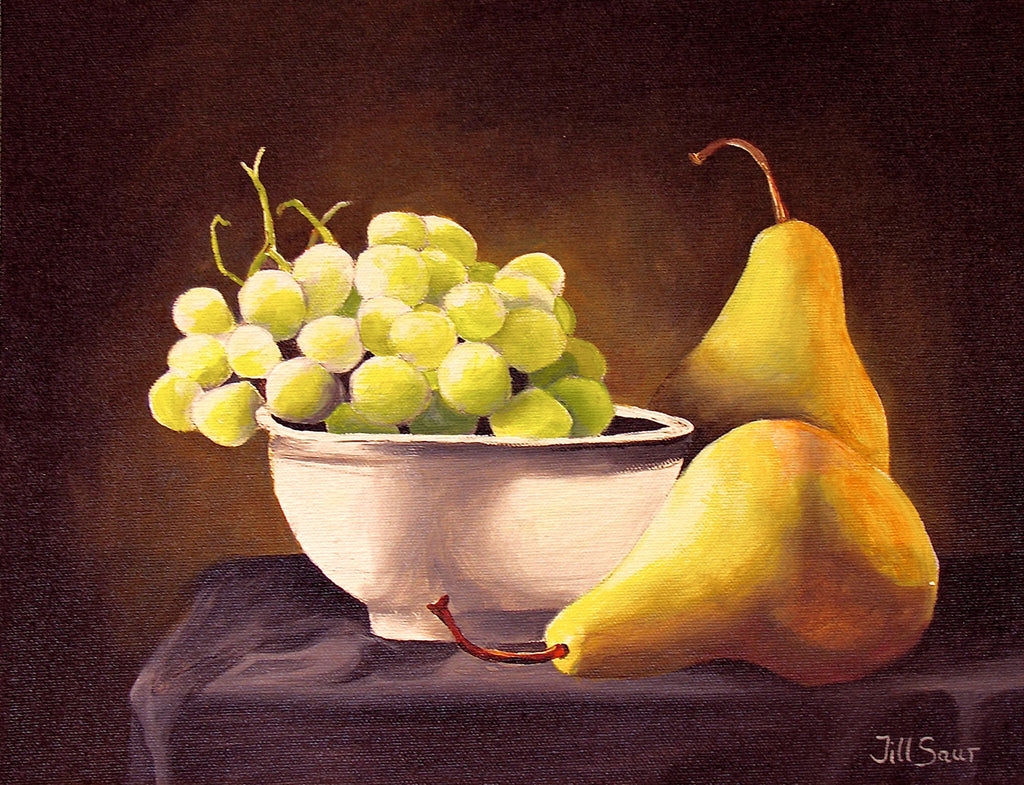 Fruit Still Life Painting by Jill Saur