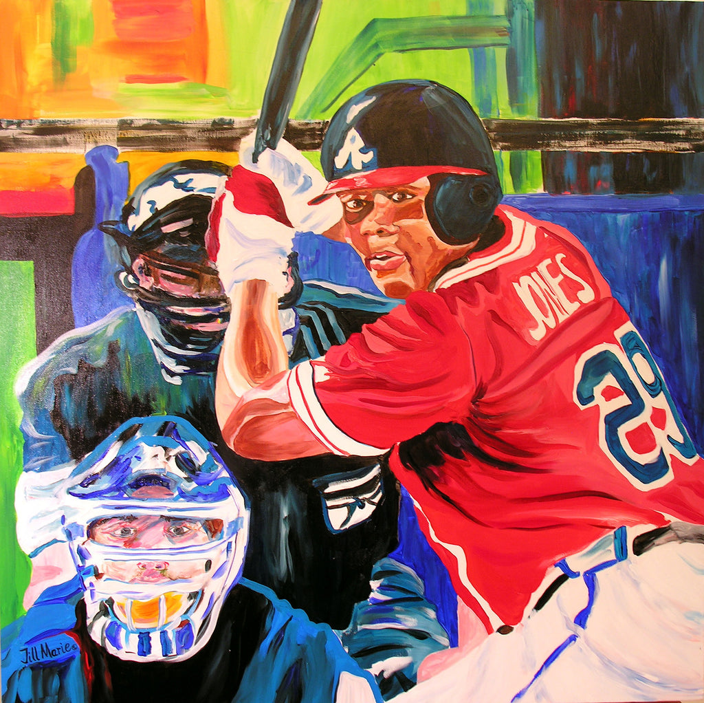 Andruw Jones Painting by Jill Saur