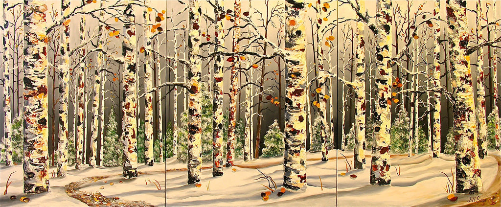 "Aspen Rhapsody In Snow 30""x72"""