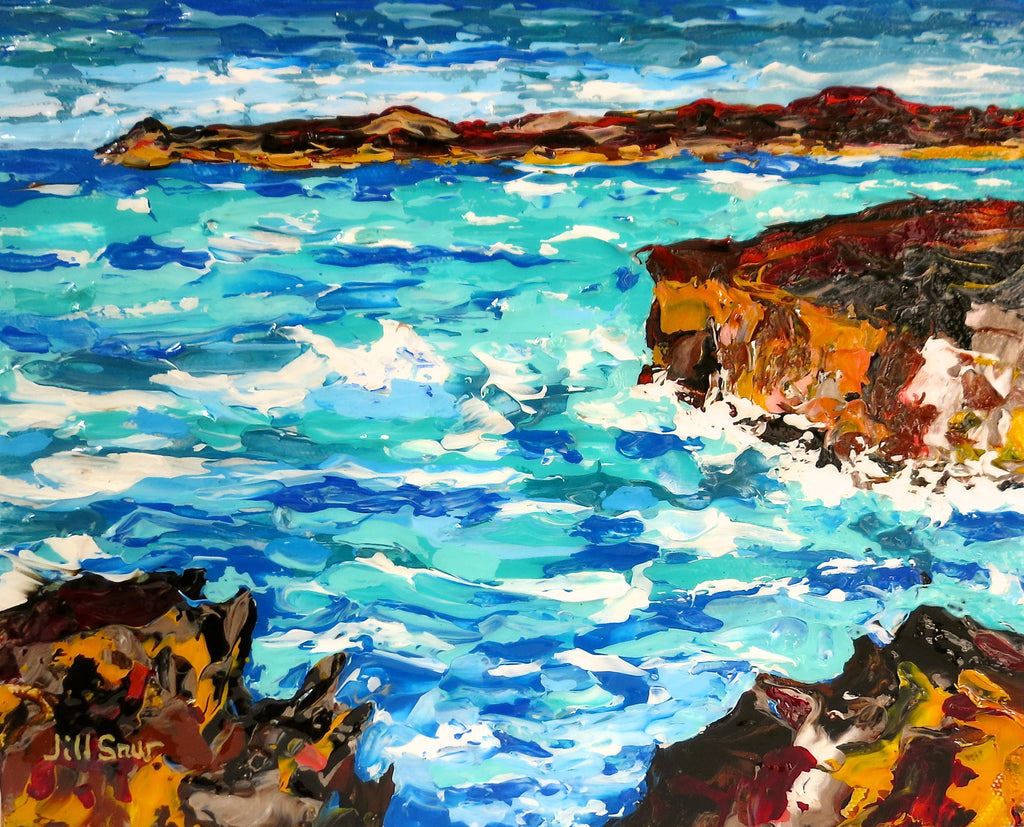 seascape on canvas by Jill Saur