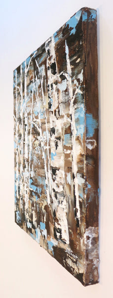 Abstract trees painting by Jill Saur