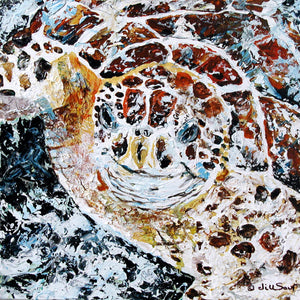 Abstract Sea Turtle Painting by Jill Saur