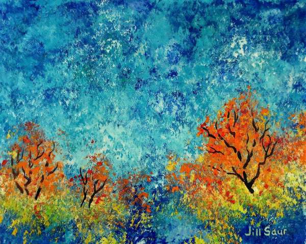 Abstract Landscape Painting by Jill Saur
