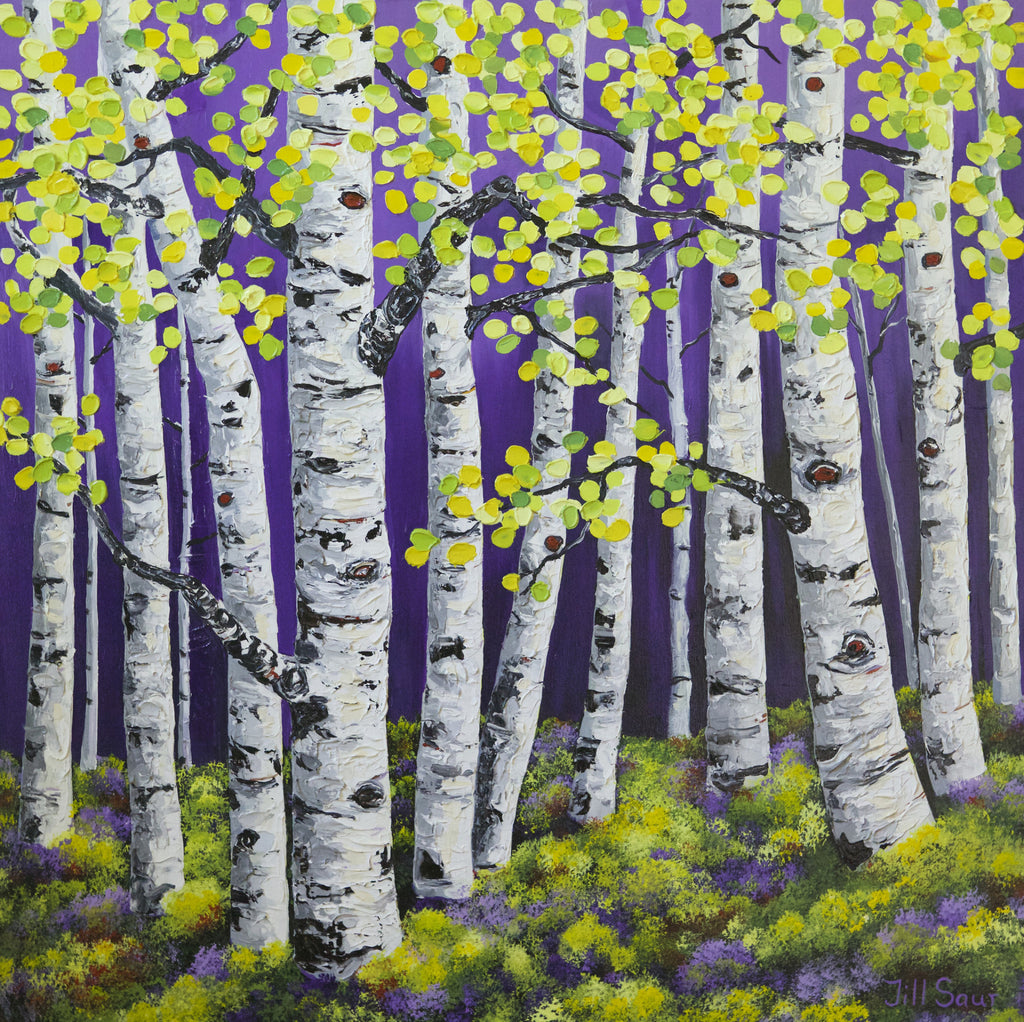 Aspen Painting By Jill Saur