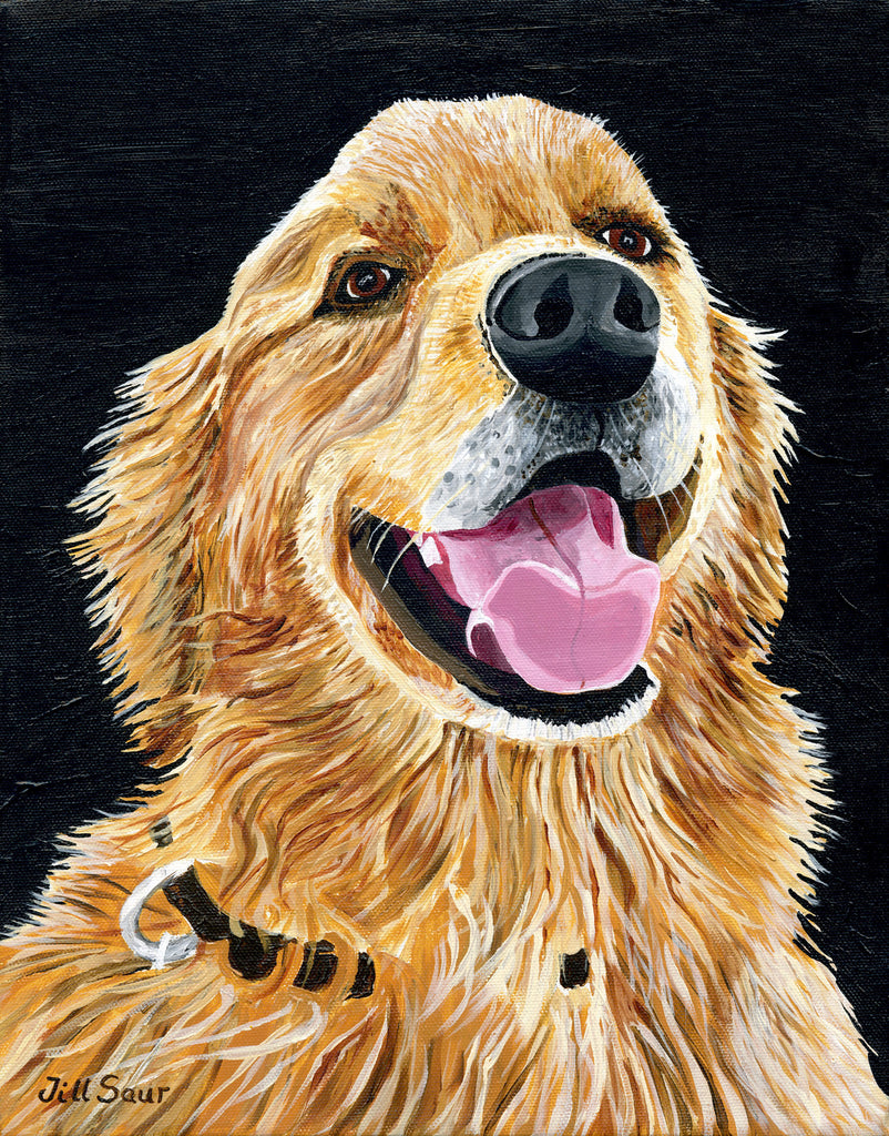 Golden Retriever Painting by Jill Saur