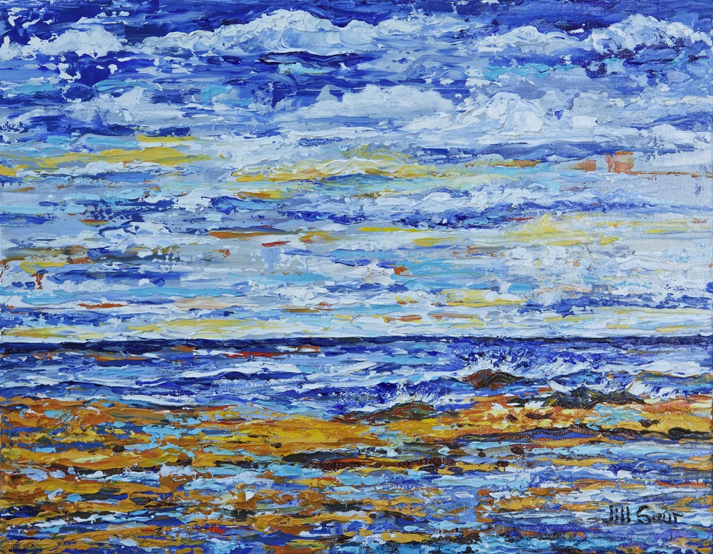 Abstract Seascape Painting by Jill Saur
