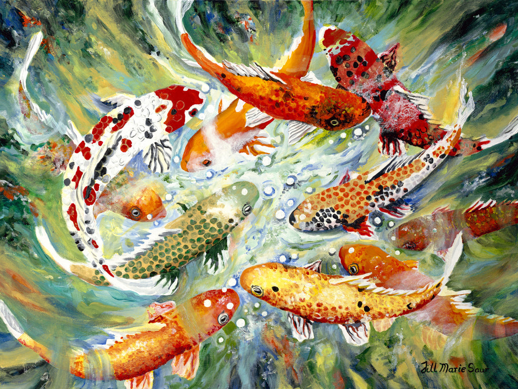 Koi Painting by Jill Saur