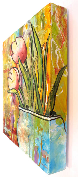 Tulips Painting by Jill Saur