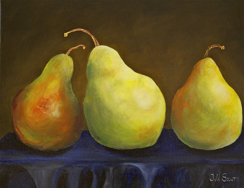 Pear still life painting by Jill Saur