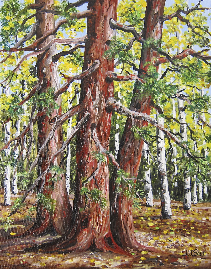 Lost Lake Kebler Pass Painting by Jill Saur
