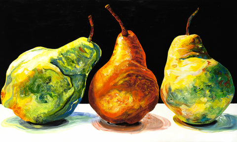 Pears Painting by Jill Saur