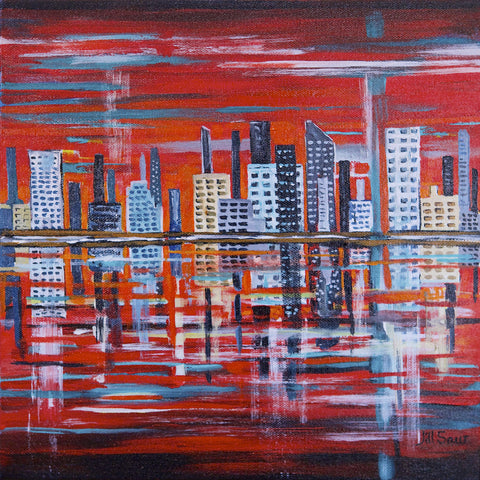 Abstract New York City Skyline by Jill Saur