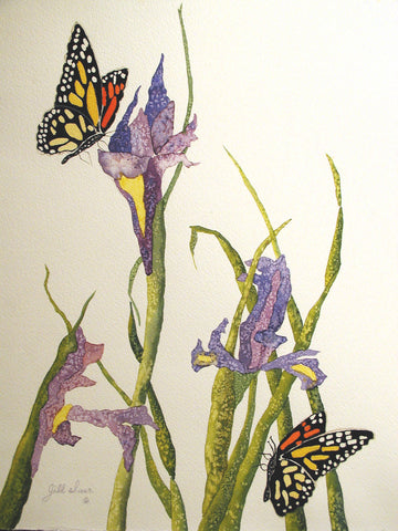 Monarch Butterfly Painting by Jill Saur