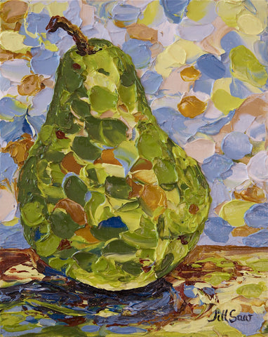 Pear Painting By Jill Saur