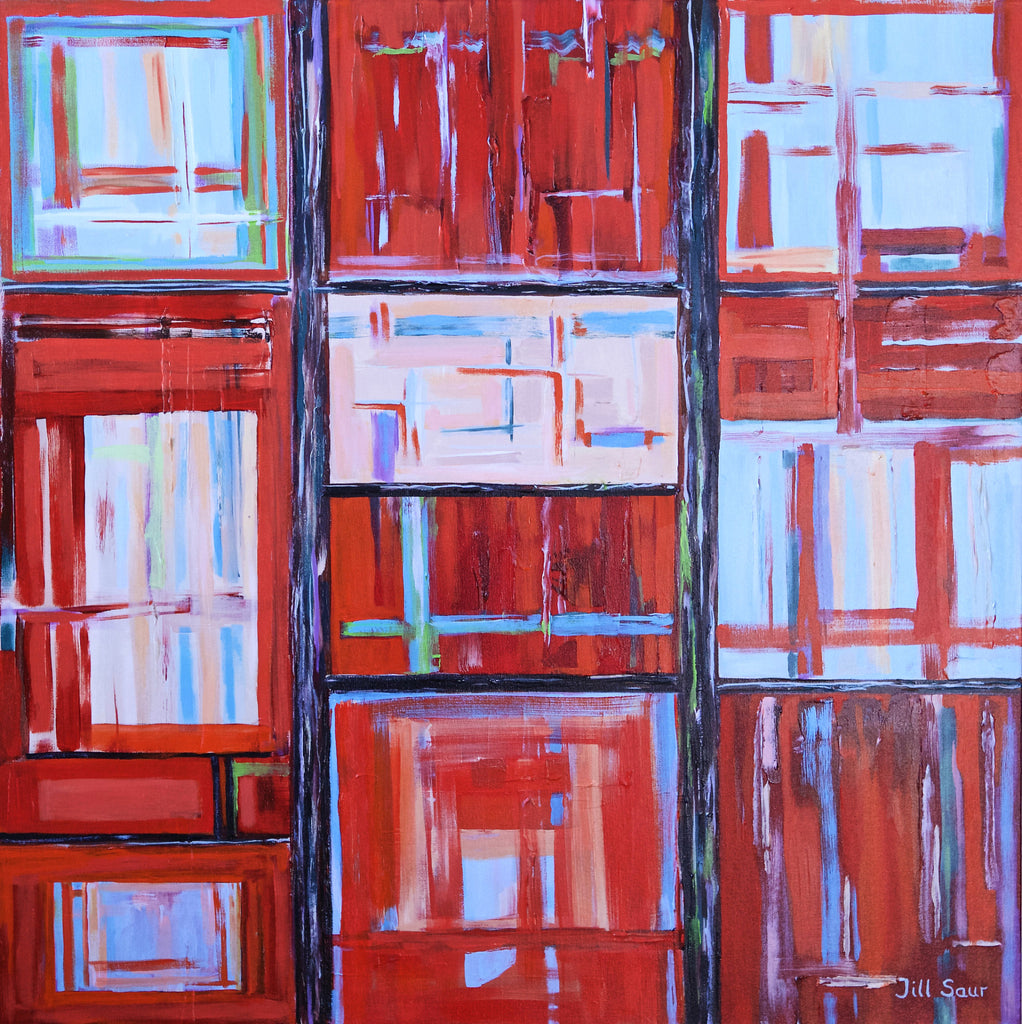 Abstract Squares Painting by Jill Saur