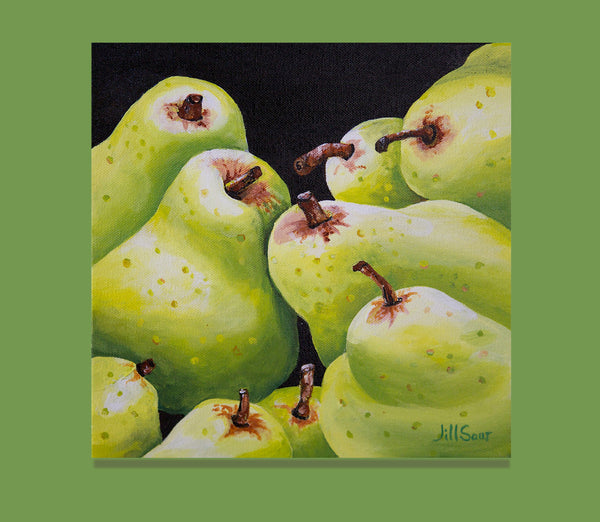 Pear still life by jill saur