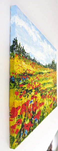 Wildflowers Painting by Jill Saur