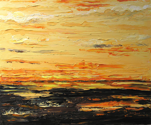 Abstract Sunrise Painting by Jill Saur