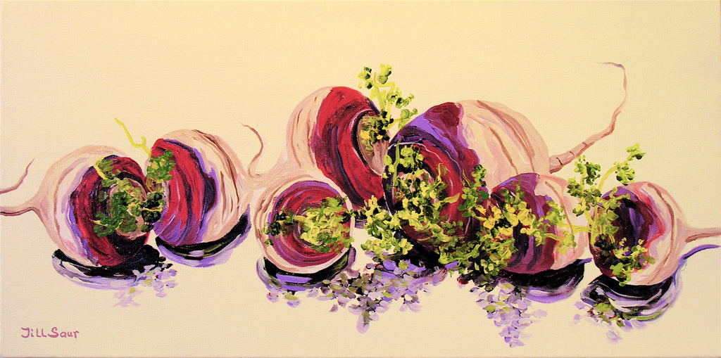 Turnips Painting by Jill Saur