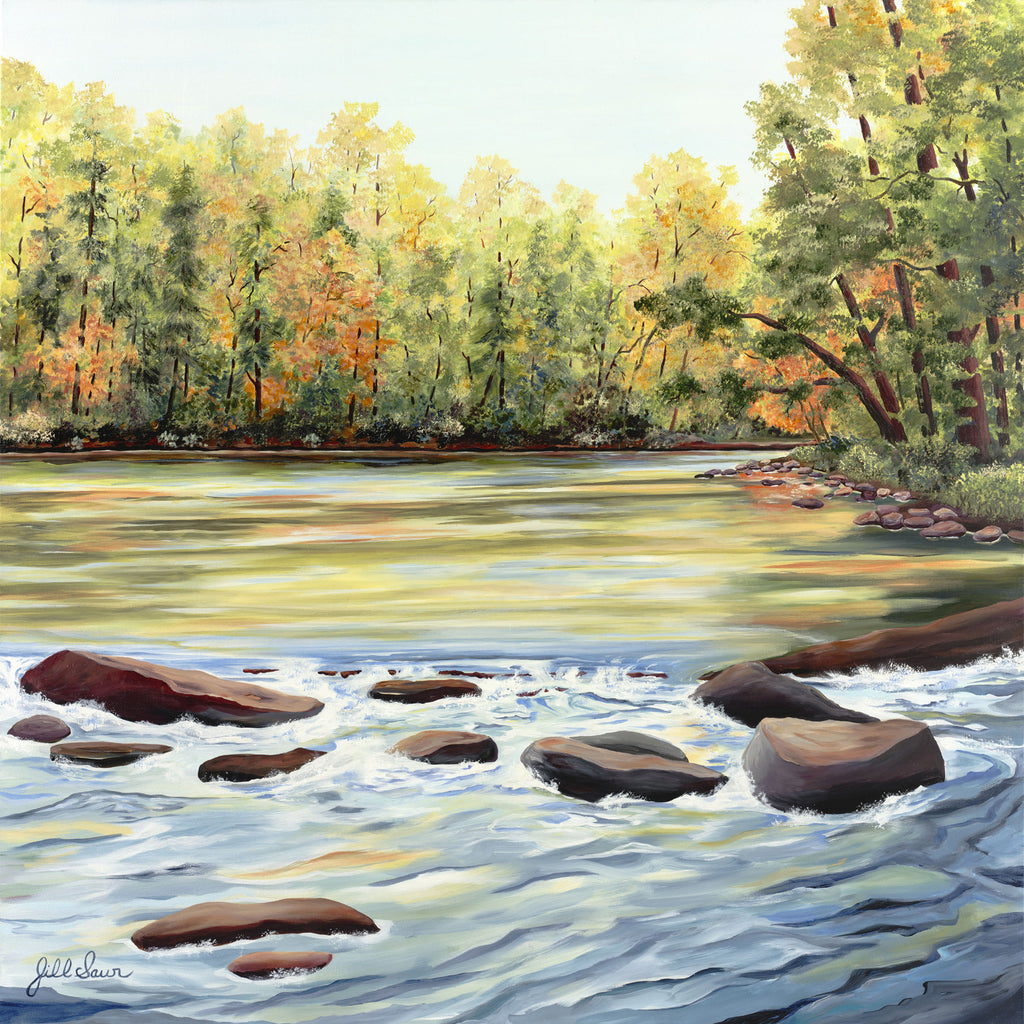 Chattahoochee River Painting by Jill Saur