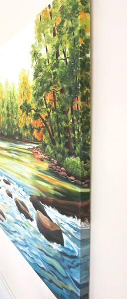 River Painting by Jill Saur