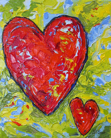 Heart Painting by Jill Saur