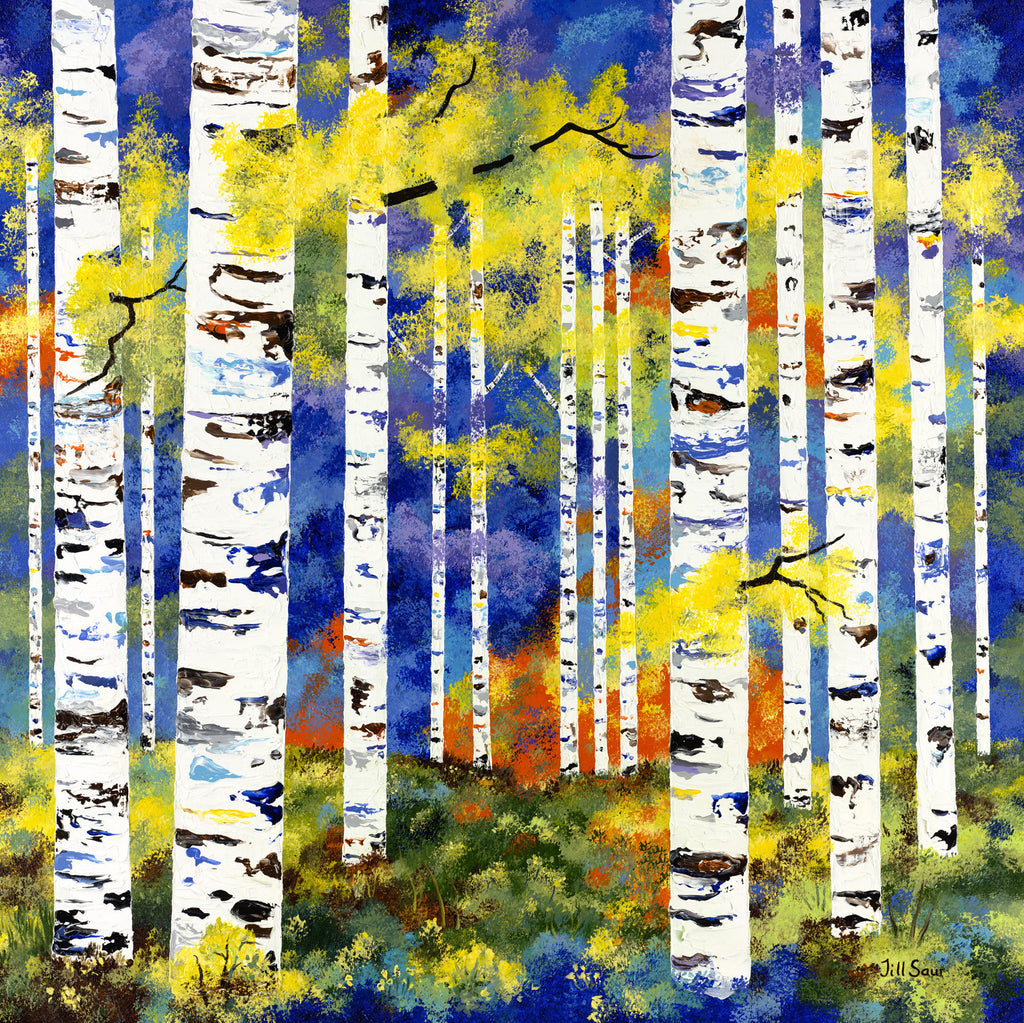 Summer Aspen Painting by Jill Saur