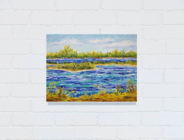 marsh oil painting by jill saur